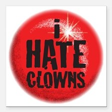 "C-94 (clowns) Square Car Magnet 3"" x 3"""