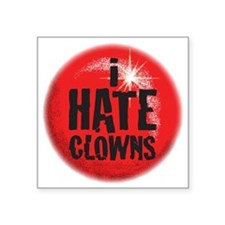 "C-94 (clowns) Square Sticker 3"" x 3"""