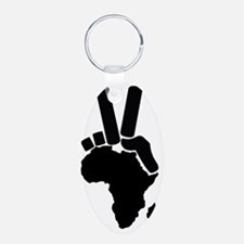 africa-peace sign Keychains
