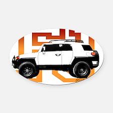 fj cruiser red-orange Oval Car Magnet