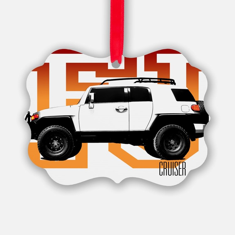 fj cruiser red-orange Ornament