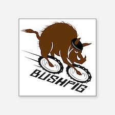 """bushpig Square Sticker 3"""" x 3"""""""