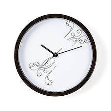 2-nevermore-white Wall Clock