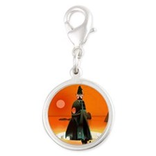 Planet Inferno Launch Silver Round Charm