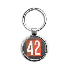 42 Round Keychain
