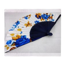 cloth fan Throw Blanket