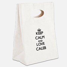 Keep Calm and Love Caleb Canvas Lunch Tote