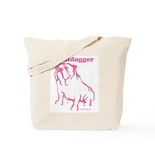 Bulldogger Logo Pink Tote Bag