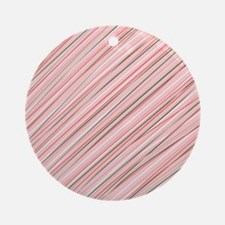 Pink Abstract Stripes Ornament (Round)