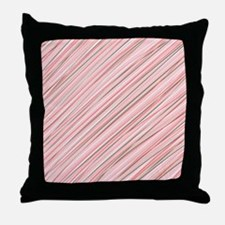 Pink Abstract Stripes Throw Pillow