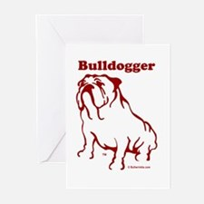 Bulldogger Logo Red Greeting Cards (Pk of 10)