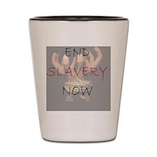 3-END SLAVERY NOW Shot Glass
