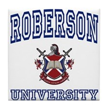 ROBERSON University Tile Coaster