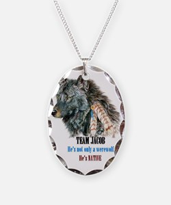 TEAM JACOB Necklace Oval Charm