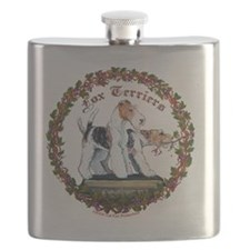 fox squreNEW with vine cleaned Flask