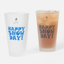 ART HAPPY SNOW DAY Drinking Glass