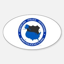 Policevet's Logo Oval Decal