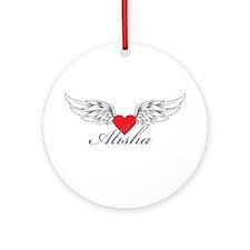 Angel Wings Alisha Ornament (Round)