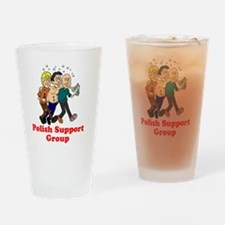 Polish Support Group T-Shirt Drinking Glass