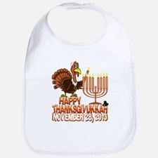 Happy Thanksgivukkah Thankgiving Hanukkah Bib