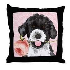 PWD Rose Throw Pillow