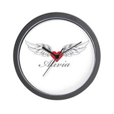 Angel Wings Alivia Wall Clock