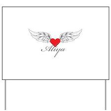 Angel Wings Aliya Yard Sign
