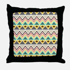 Tribal Triangle Stripes Throw Pillow