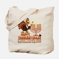 Happy Thanksgivukkah Thankgiving Hanukkah Tote Bag