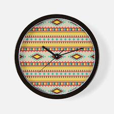 Yellow Tribal Abstract Wall Clock