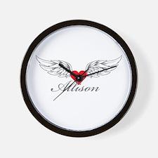Angel Wings Allison Wall Clock