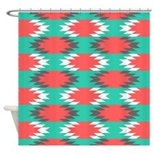 Aztec Abstract Stripes Shower Curtain