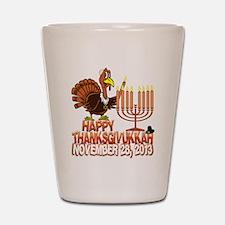 Happy Thanksgivukkah Thankgiving Hanukkah Shot Gla