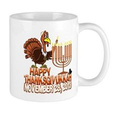 Happy Thanksgivukkah Thankgiving Hanukkah Mugs