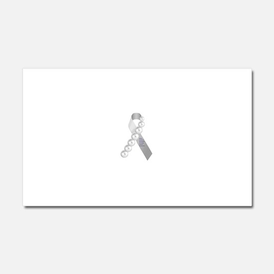Lung Cancer Pearlie Ribbon Car Magnet 20 x 12