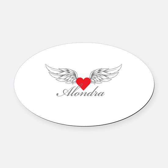 Angel Wings Alondra Oval Car Magnet