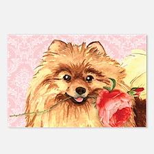Pomeranian Rose Postcards (Package of 8)