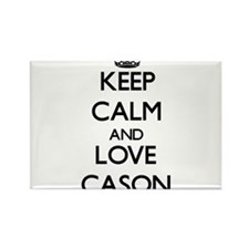 Keep Calm and Love Cason Magnets