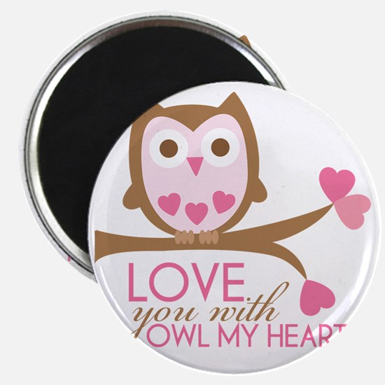 owlmyheart copy Magnet