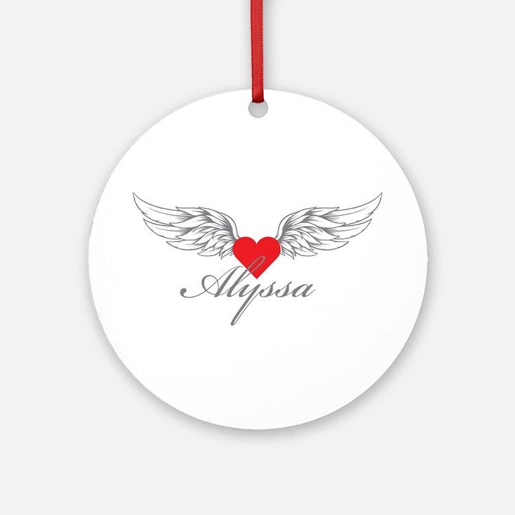 Angel Wings Alyssa Ornament (Round)