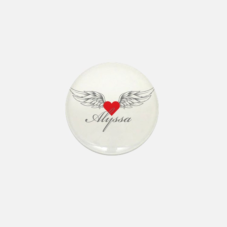 Angel Wings Alyssa Mini Button