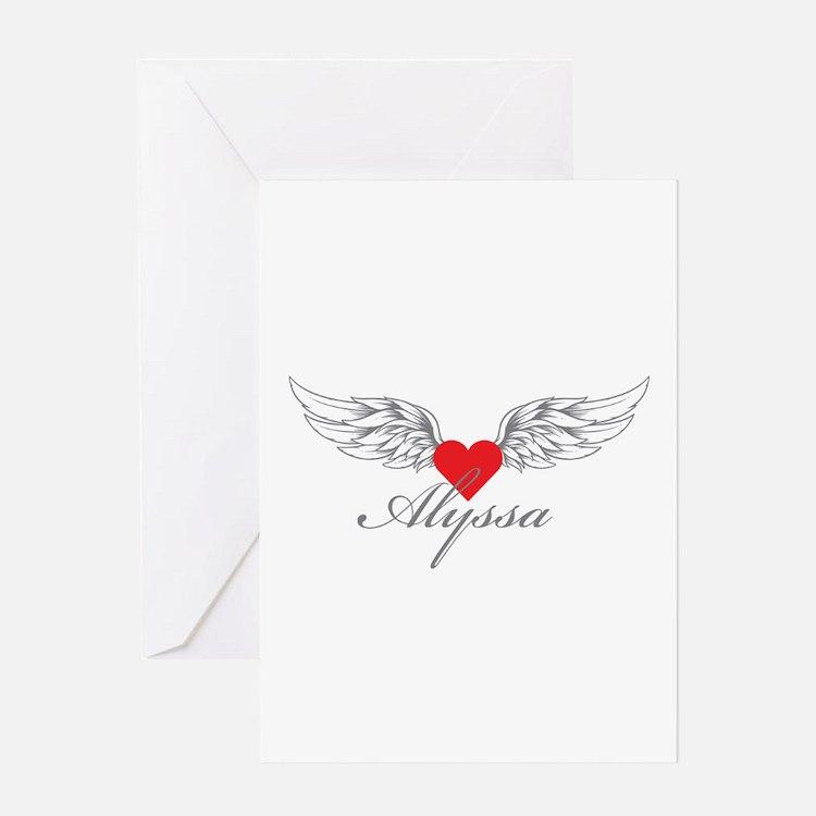 Angel Wings Alyssa Greeting Cards