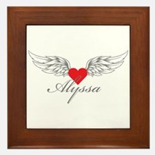 Angel Wings Alyssa Framed Tile
