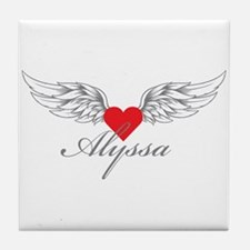 Angel Wings Alyssa Tile Coaster