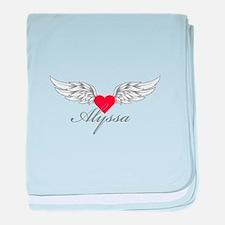 Angel Wings Alyssa baby blanket