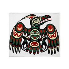 Northwest eagle Throw Blanket