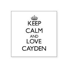 Keep Calm and Love Cayden Sticker