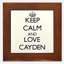 Keep Calm and Love Cayden Framed Tile
