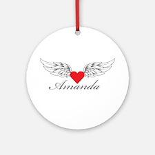 Angel Wings Amanda Ornament (Round)