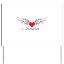 Angel Wings Amani Yard Sign